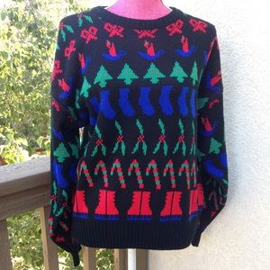 "Vintage ""Ugly"" Christmas Sweater Women's SZ L"